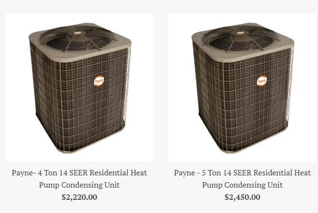 Start shopping our selection of residential Payne heat