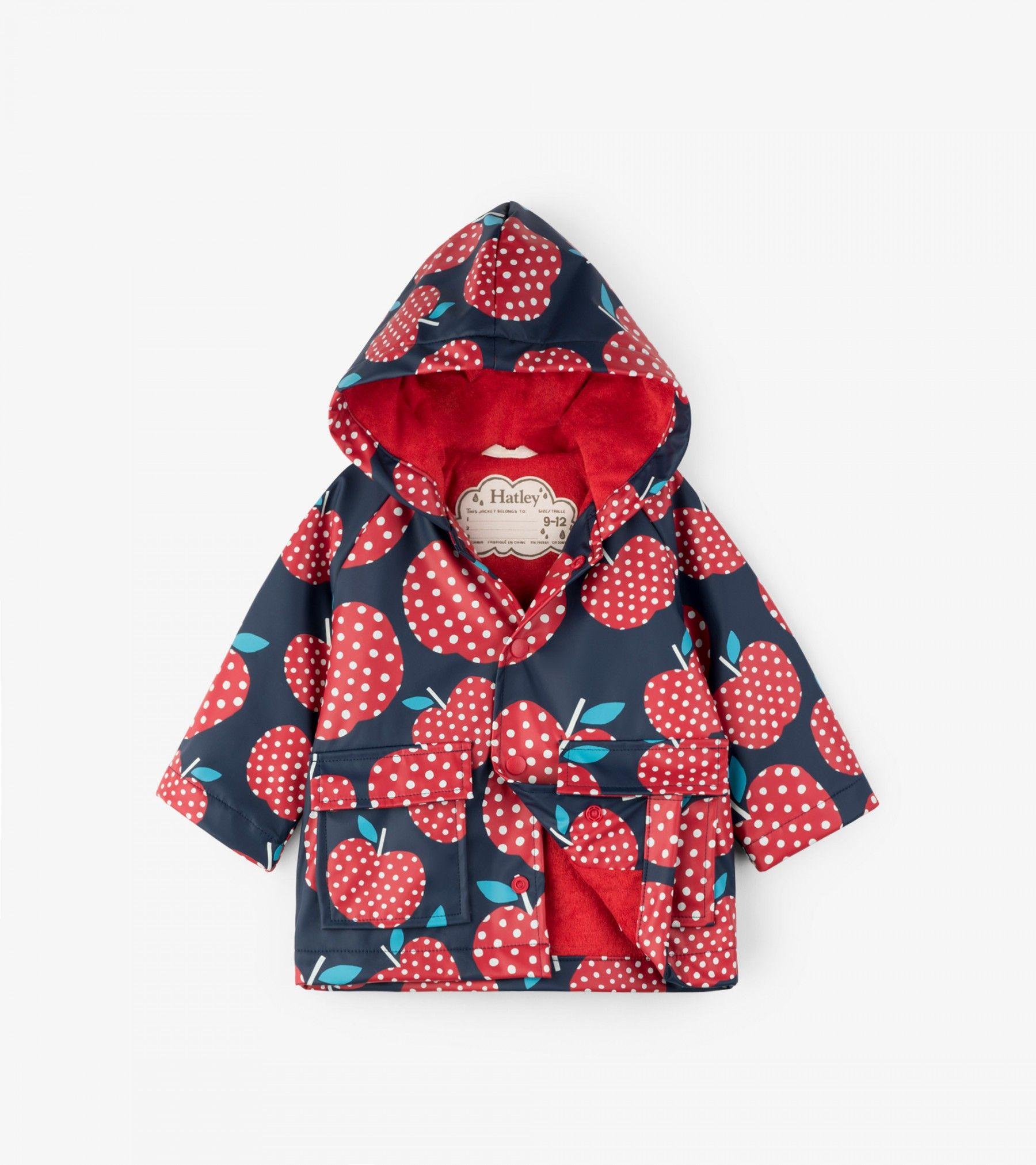 Polka Dot Apples Classic Baby Raincoat Sale Categories Baby Girls Hatley Canada Baby Raincoat Girls Raincoat Kids Robes