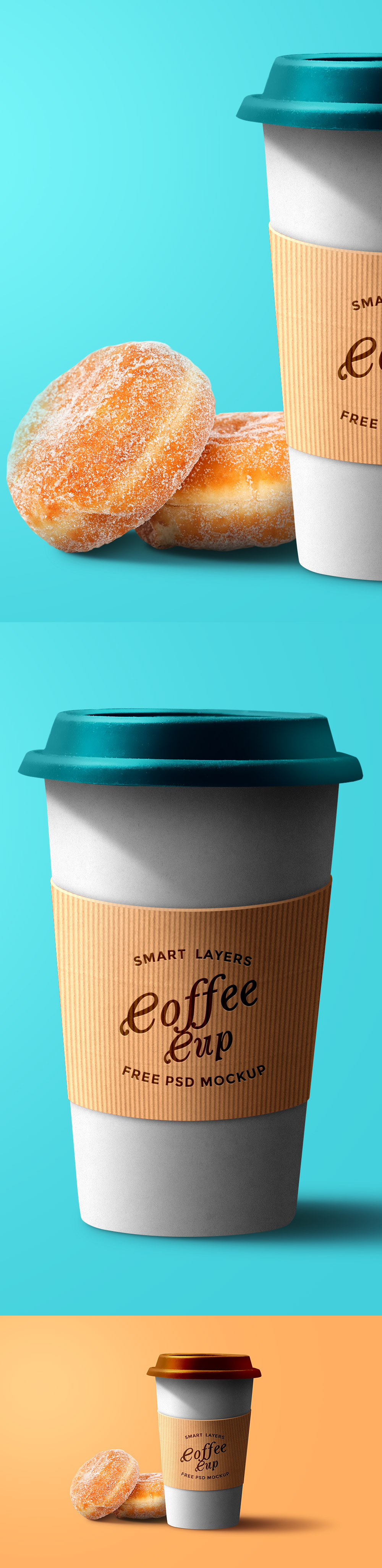 Paper Coffee Cup PSD Template Mockup, Coffee cups