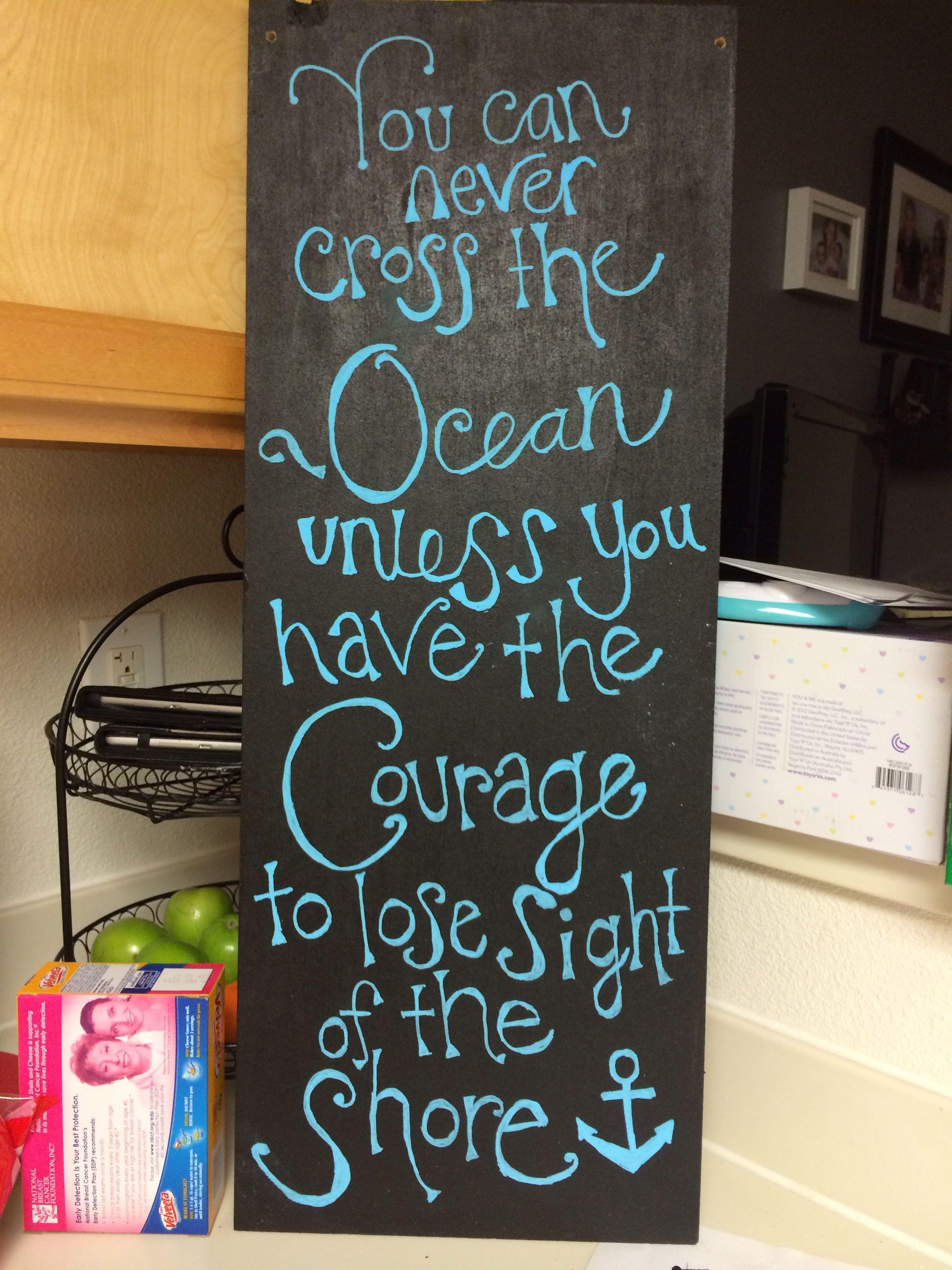 Wooden Board, Chalkboard Paint, & A Quote