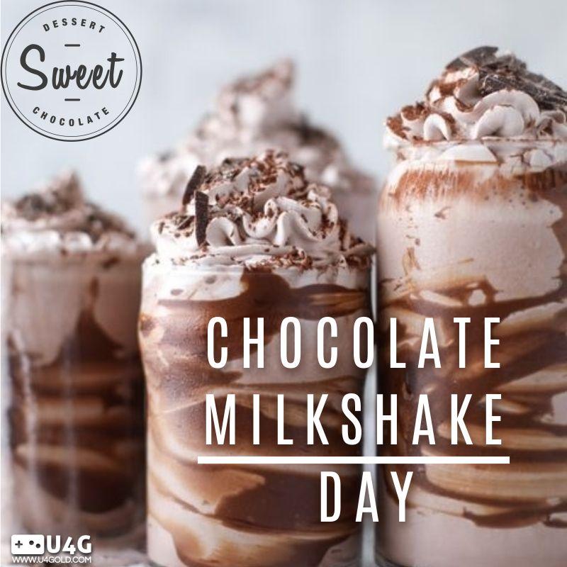 Happy chocolate milkshake day chocolatemilkshakeday