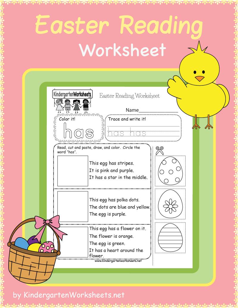 Kindergarten Easter Reading Worksheet Reading Worksheets Kindergarten Worksheets Reading Comprehension Skills [ 1035 x 800 Pixel ]