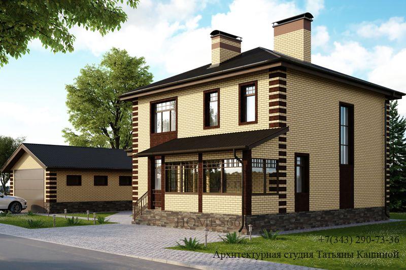 Проекты двухэтажных домов 10 на 10 из пеноблоков под ключ в Москве ... | 533x800