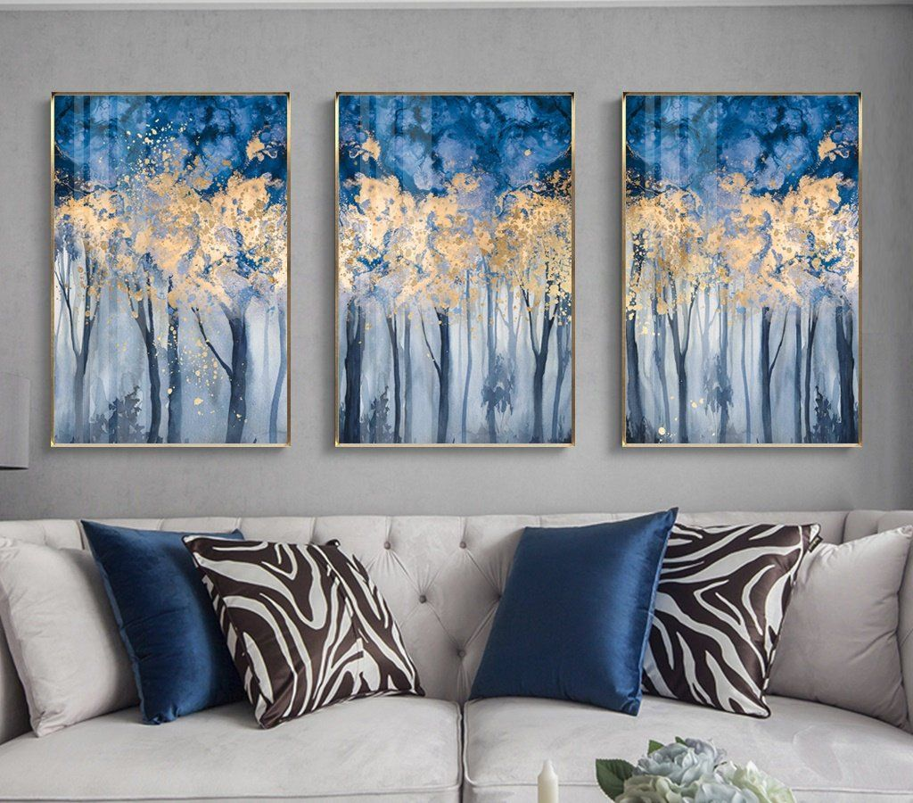 3 Pieces Oil Painting Forest Landscape Large Canvas Wall Art Etsy Diy Canvas Wall Art Large Canvas Wall Art 3 Piece Canvas Art