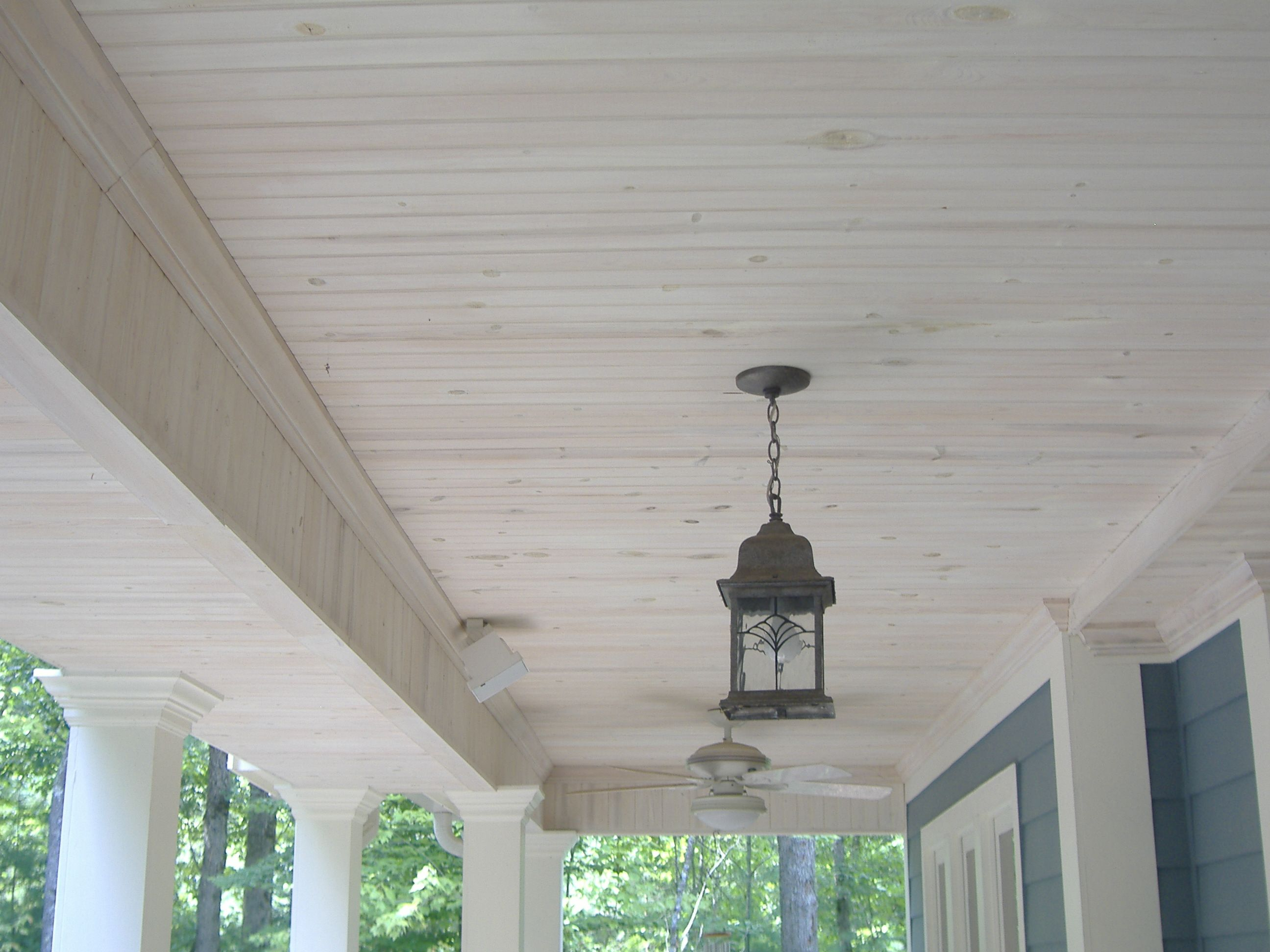 Delightful Front Porch Ceiling