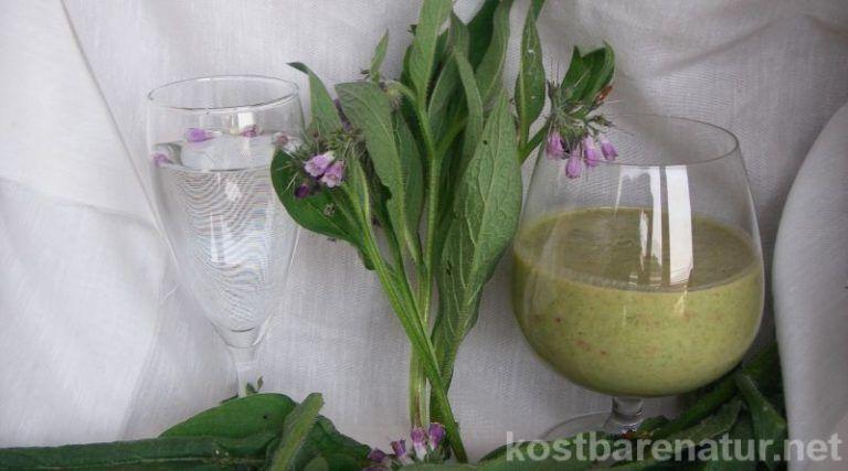 Beinwelltee und andere heilsame Getränke mit Beinwell - Kostbare Natur