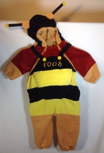 cb736e13e251 Disney Store Winnie The Pooh Honey Bee Costume 6-12 Months Wings Full Body  Warm