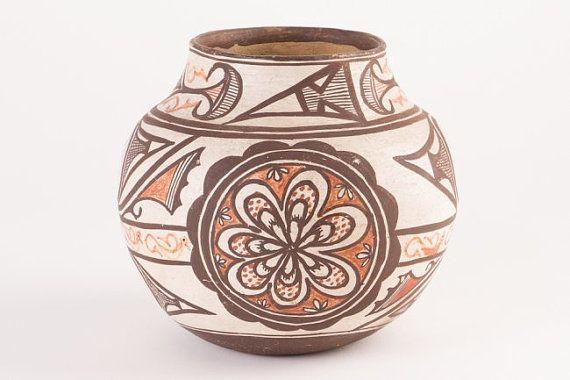 Native American Pottery Pottery Polychrome Zuni Vase Early