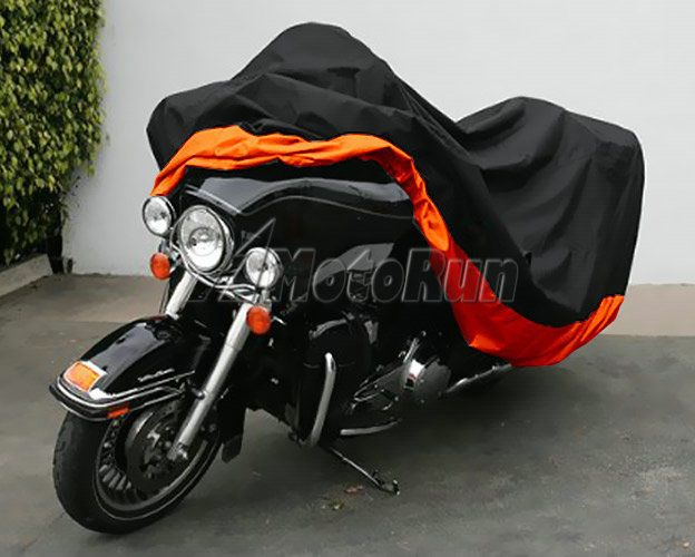 Xxxl Orange Motorcycle Cover Waterproof For Harley Davidson Street Glide Touring Motorcycle Cover Harley Davidson Street Glide Electra Glide Ultra Classic