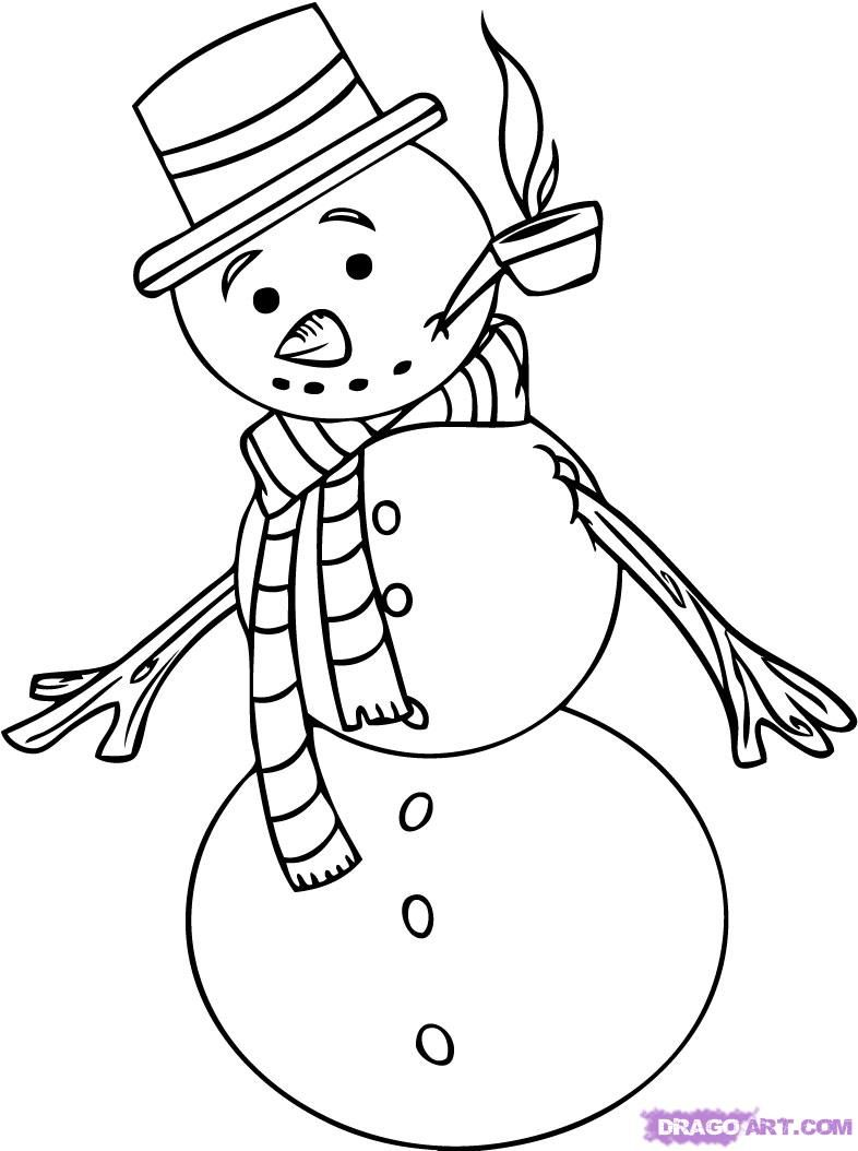 how to draw frosty the snowman step 5 | Ideas | Pinterest | Snowman ...