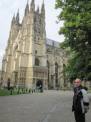 Larry at Canterbury Catherdral