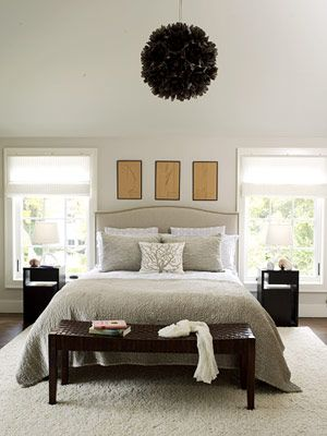Black and Warm White Bedroom