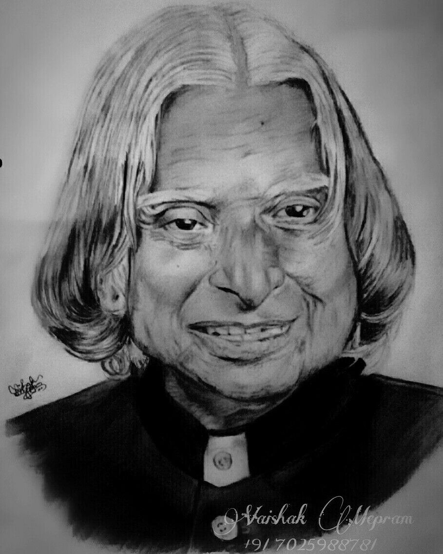 Dedicated to former president of india dr apj abdul kalam sir also known as the missile man of india art work by vaishak mepram