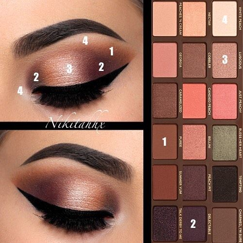 @toofaced 'Sweet Peach' Palette (shades: 'White Peach, 'Puree', 'Delectable' & '…