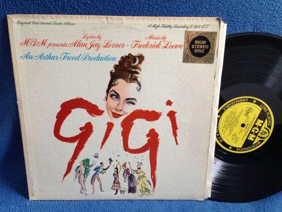 Vintage Quot Gigi Quot Original Cast Soundtrack Vinyl Lp Record Album Original Press Frederick Lowe Alan Jay Le Vinyl Sales Originals Cast The Originals
