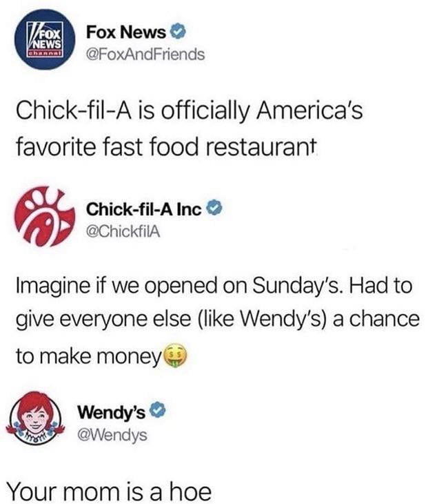Wendy's is harsh man