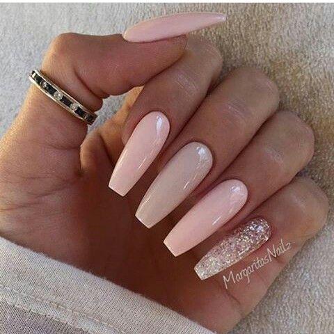 Light Pink Ballerina Nails Trendy Nails Nails