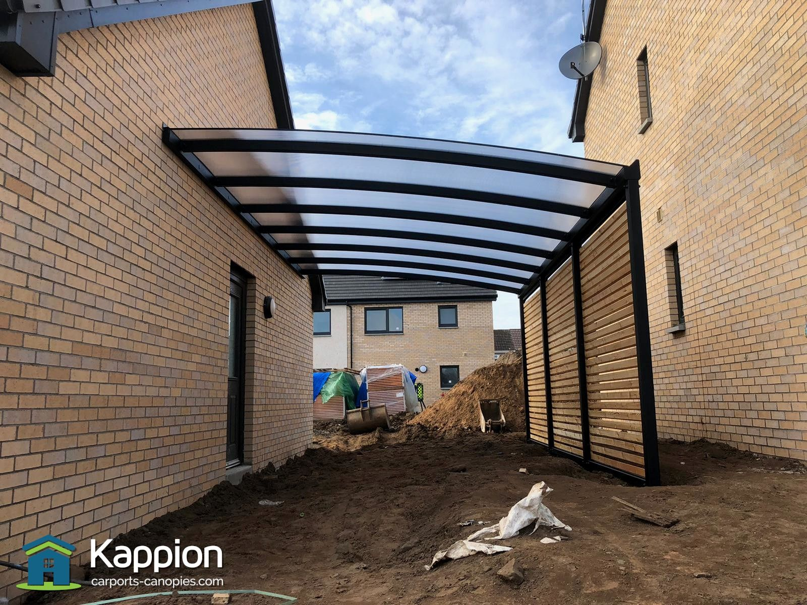 Carport Canopy installed for North Ayrshire Council by