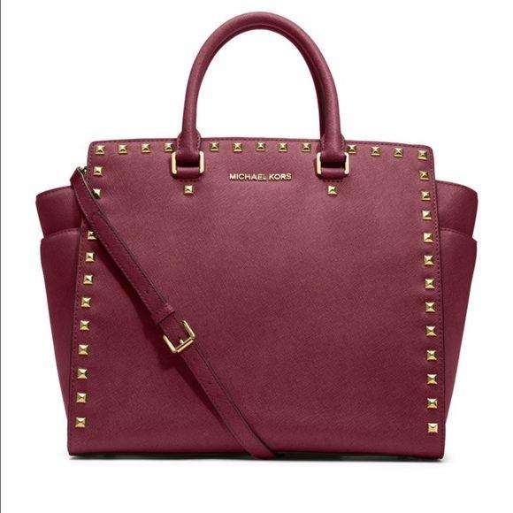 Bag Michael Kors Studded Selma Good Used