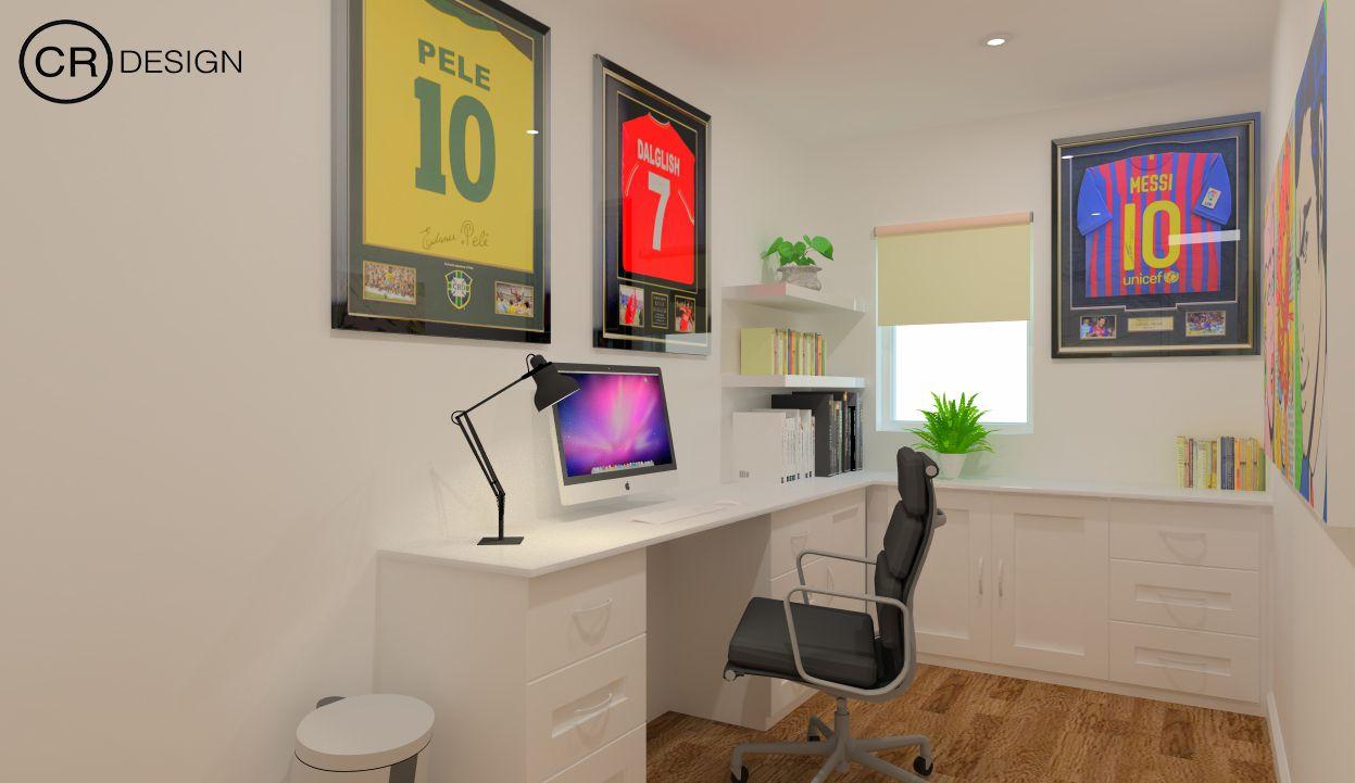 Sportsu0027 Fan Small Office Space