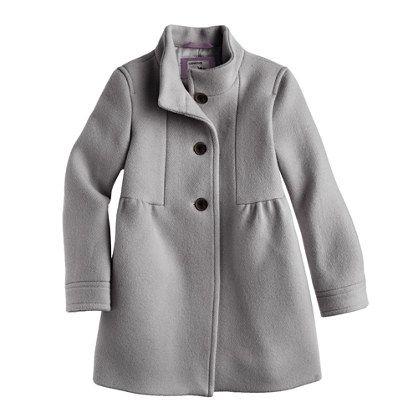 Girls' stadium-cloth marquee coat : wool | J.Crew