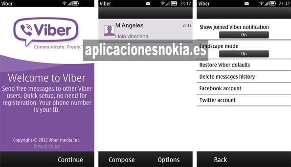 Viber para Nokia N8 / C7 / 500 / 5800 / N97 http://www.aplicacionesnokia.es/viber-para-nokia-n8-c7-500-5800-n97/