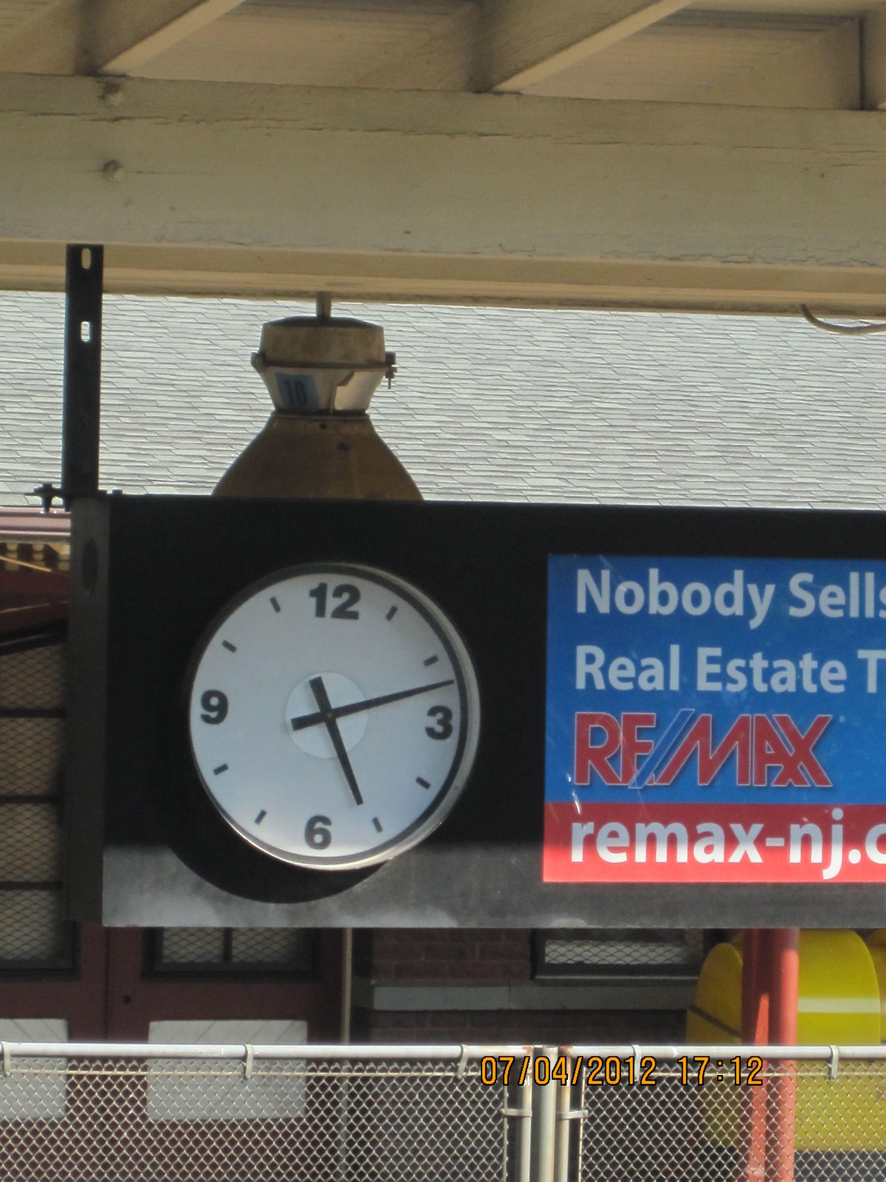 Clock at Huntington RR Depot, Long Island