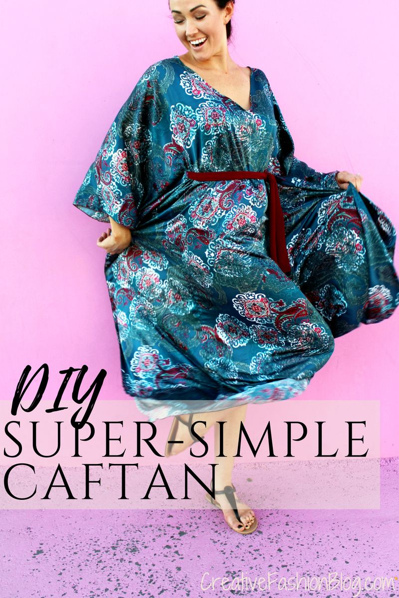 Easy DIY Caftan Dress Tutorial For Spring #beachvacationclothes