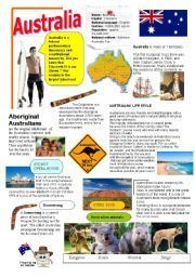 English teaching worksheets Australia Projects to Try