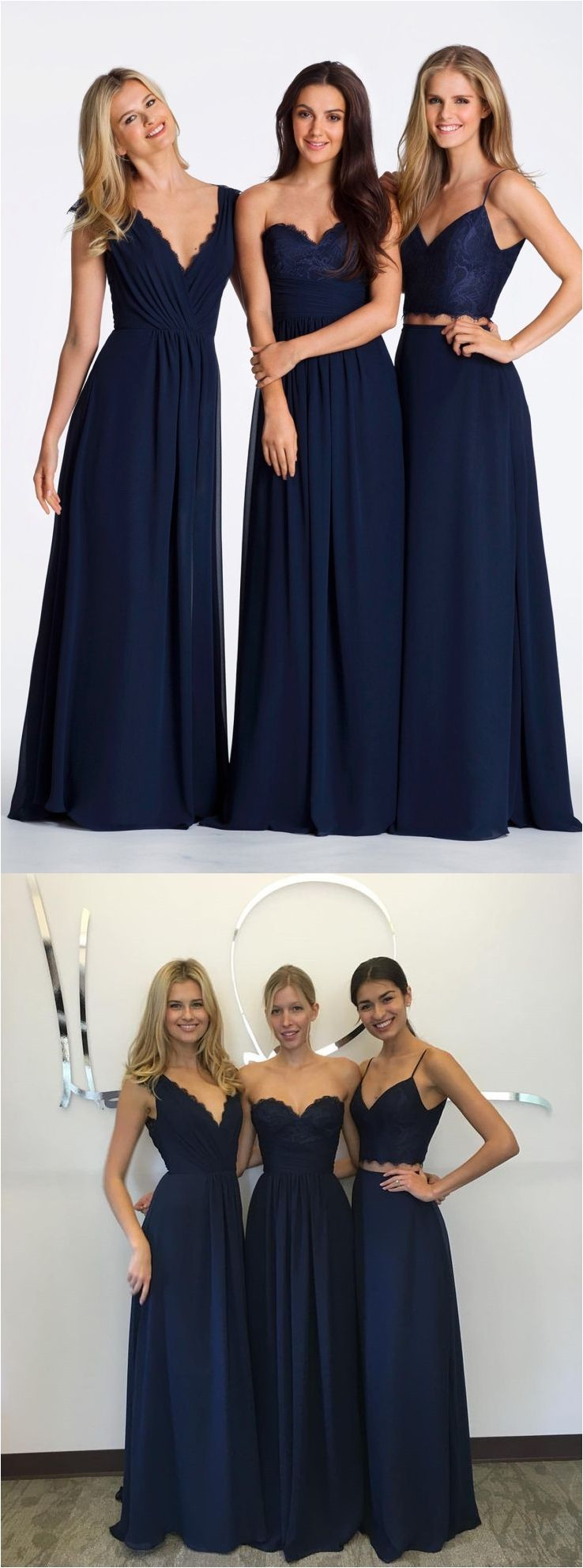 Simple and elegant long bridesmaid dresses ideas for your best