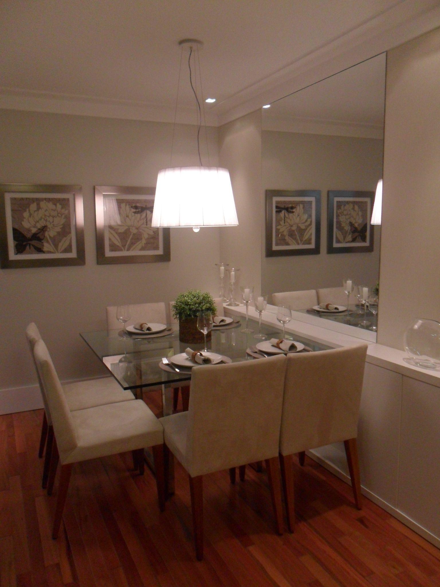 Sala De Jantar Empreendimento Way Living Nosso Cantinho  -> Lustres Para Sala De Jantar Com Mesa Quadrada