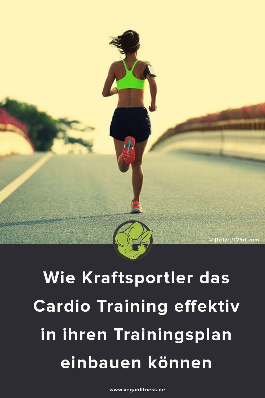 Erfahre, wie Kraftsportlicher effektiv das Cardacio Training  in ihren Trainingplan integrieren könn...