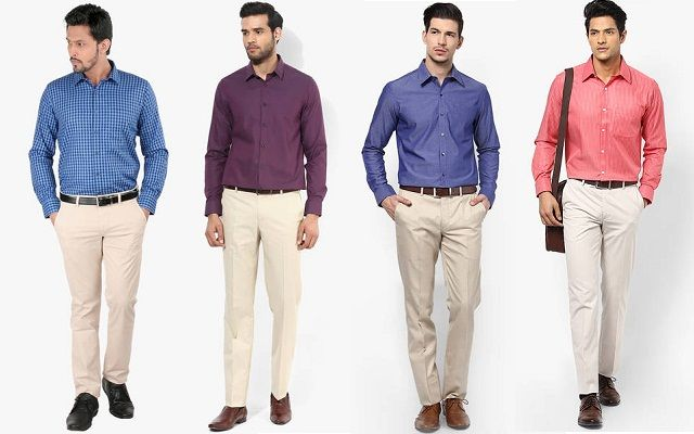 5f69650fed Men s Guide to Perfect Pant Shirt Combination - LooksGud. Cream colour has  wide matching colours i.e. navy blue