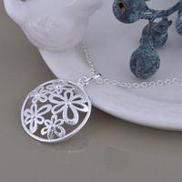 28b285a28937 Venta al por mayor envío gratuito 925 joyería de plata cadenas de collar  colgante WN-1176