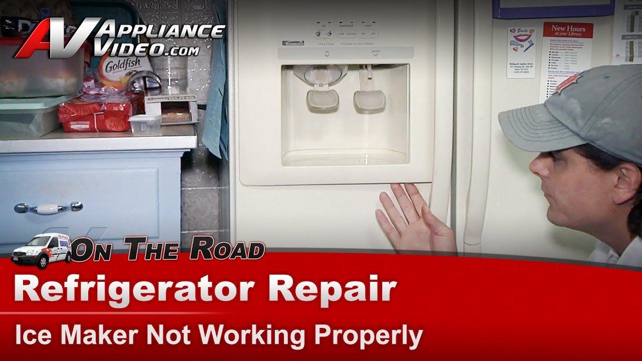 Refrigerator Ice Maker Water Dispenser Not Working Repair Kenmore Whirlpool Maytag Sears Youtu Refrigerator Repair Ice Maker Refrigerator Ice Maker