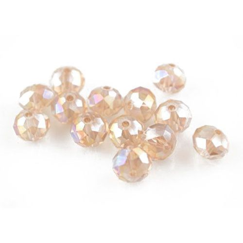 Czech Crystal Glass Faceted Round Beads 8mm Pale Pink 70 Pcs Art Hobby Crafts