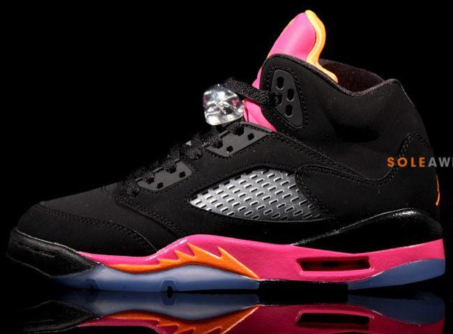 lowest price f40d8 36753 Air Jordan V (5) Retro GS   Bright Citrus   Fusion Pink