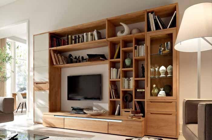 Wooden Dining Living Room Wardrobe Design