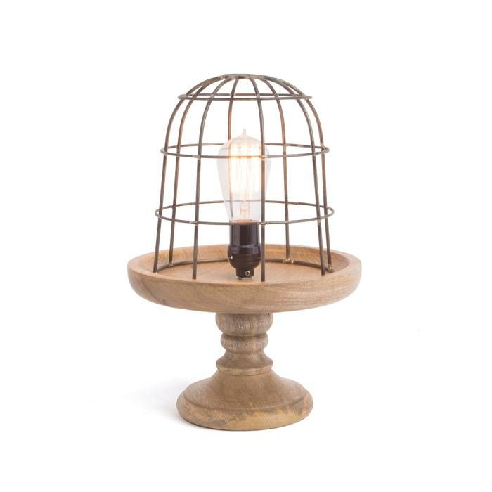Wooden and metal table lamp wire basket lamp shade table lamp wooden and metal table lamp wire basket lamp shade table lamp farmhouse lighting keyboard keysfo Image collections