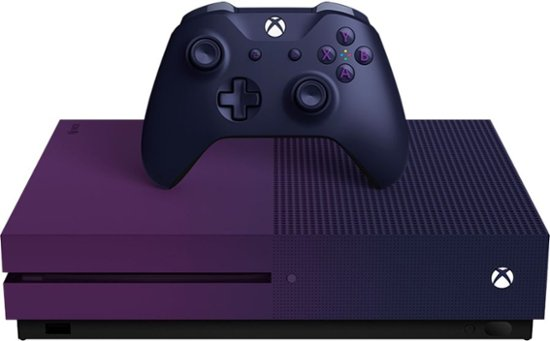 Best Buy Microsoft Xbox One S 1tb Fortnite Battle Royale Special Edition Console Bundle Gradient Purple 23c 00080 Xbox One S Xbox One S 1tb Xbox