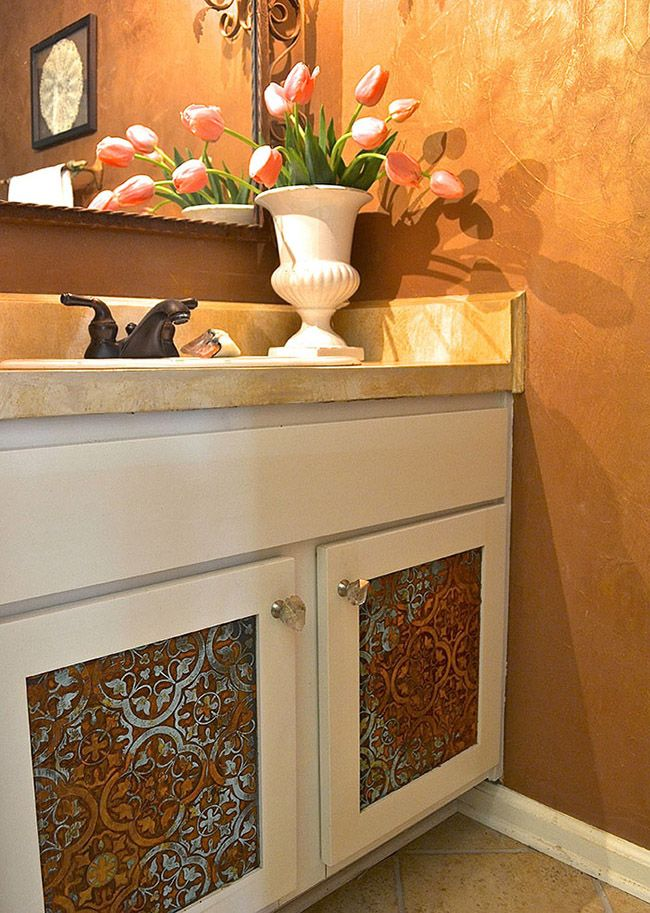 5 Tips For Working With Metal Effects Cabinet Door Patina