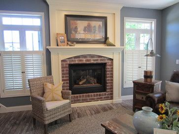 Fireplace Without Hearth Design Ideas Pictures Remodel And Decor