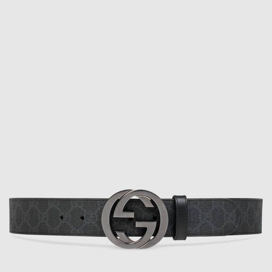 cfca8fe28dd9 Gucci GG Supreme belt with G buckle   Christmas list   Gucci, Mens ...