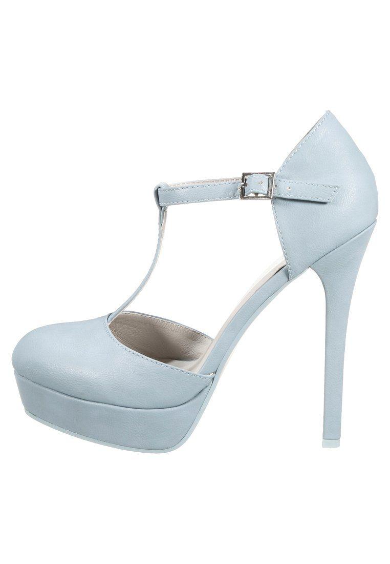 Even Odd Plateaupumps Light Blue Zalando De Turquoise High Heels Heels Crazy Shoes