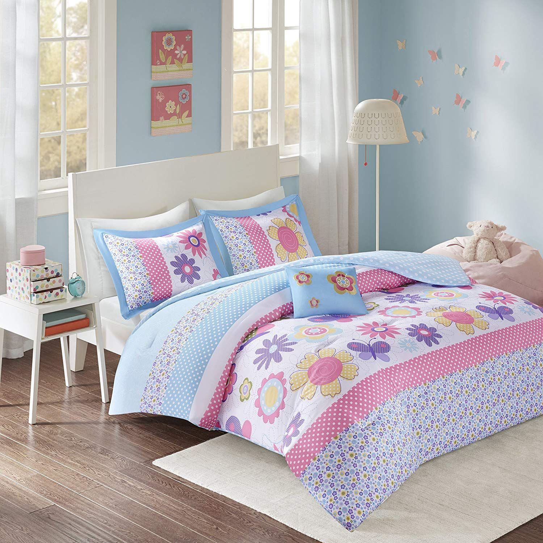 Comfort Spaces Happy Daisy Kid Comforter Set 3 Piece