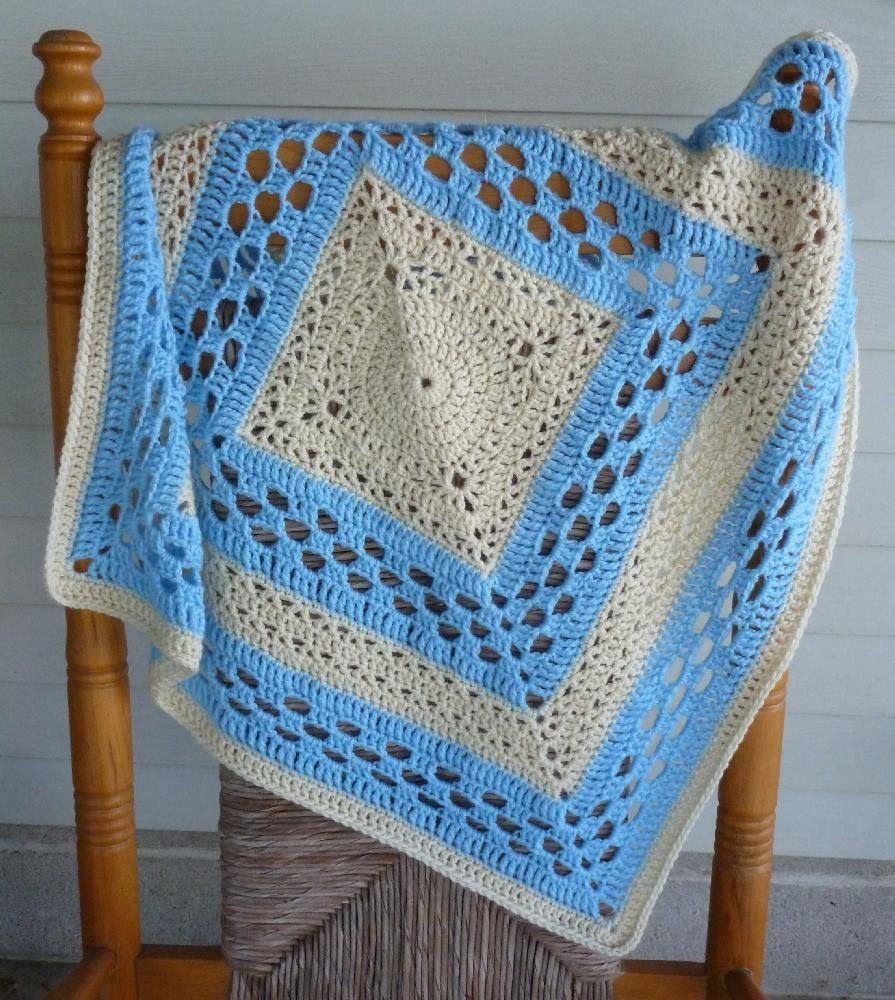 A light weight baby blanket crocheted in 2 colors to highlight a light weight baby blanket crocheted in 2 colors to highlight the symmetry of the bankloansurffo Image collections
