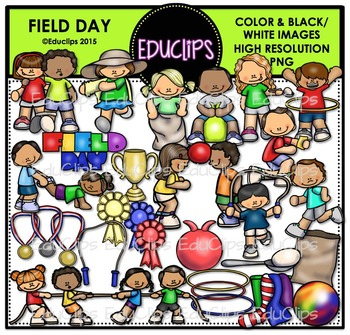 Field Day Clip Art Bundle Educlips Clipart Field Day Clip Art