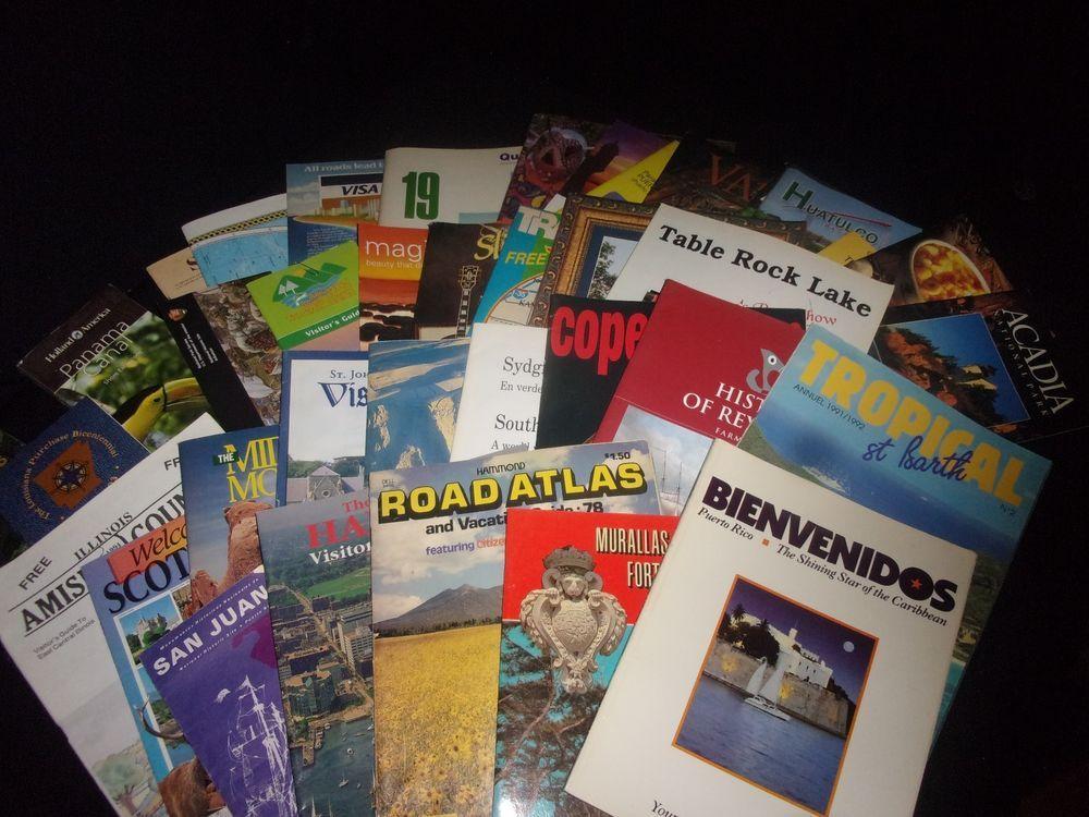 Lot of (39) Vintage Travel Brochures -Tourist Pamphlets