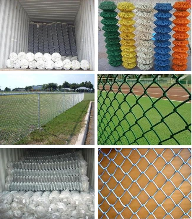 Chain Link Fence Material Also Known As Rhombus Wire Mesh
