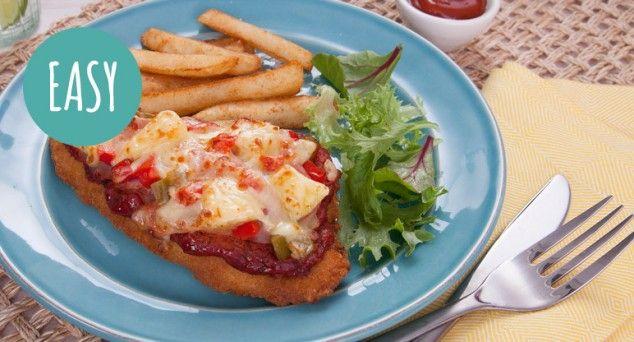 A tasty Hawaiian twist on a pub favourite.  #chicken #dinner #easyrecipe